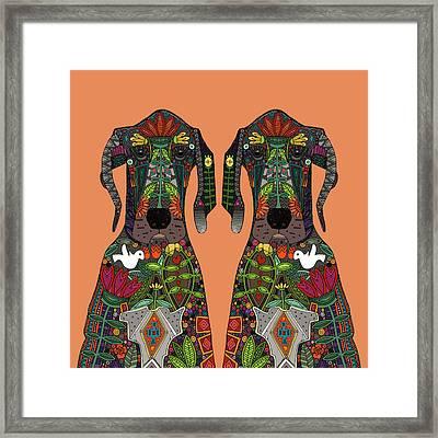 Great Dane Love Tangerine Framed Print