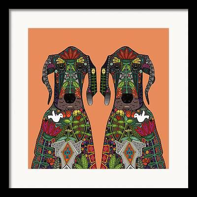 Tangerines Drawings Framed Prints