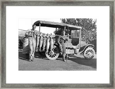 Great Day Of Salmon Fishing Framed Print