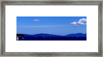 Great Day To Boat Framed Print by Rheo