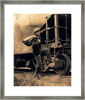 Great Depression Mass Transit  1935 Framed Print by Daniel Hagerman