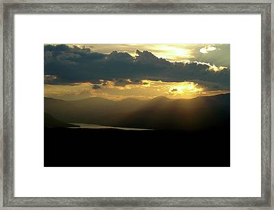 Framed Print featuring the photograph Great Divide Light by Jeremy Rhoades