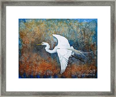 Great Egret  Framed Print by Zaira Dzhaubaeva