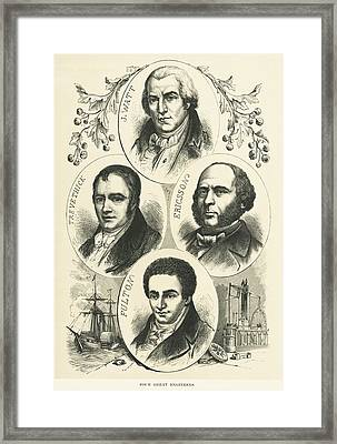 Great Engineers And Inventors Framed Print