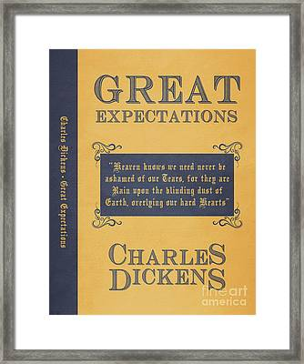 Great Expectations By Charles Dickens Book Cover Poster Art 1 Framed Print