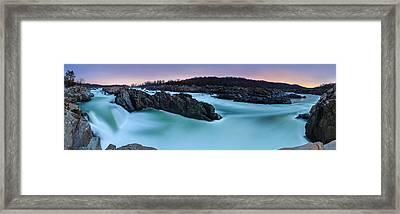 Great Falls By Full Moon Framed Print by Andrew Fritz