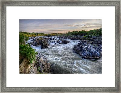 Framed Print featuring the photograph Great Falls  by Michael Donahue