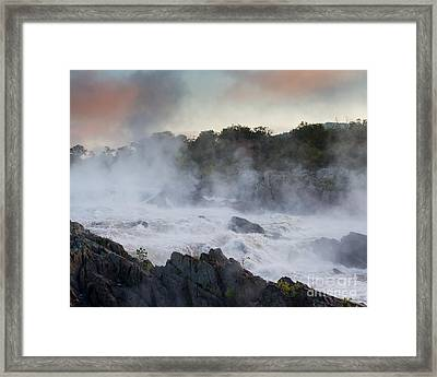 Framed Print featuring the photograph Great Falls Mist by Dale Nelson