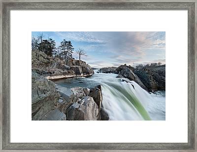 Great Falls On The Potomac River Framed Print by Mark VanDyke