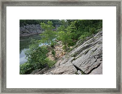 Great Falls Park - 121219 Framed Print by DC Photographer