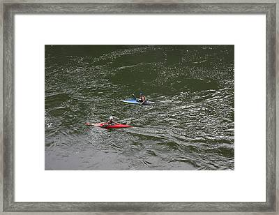 Great Falls Park - 121224 Framed Print by DC Photographer