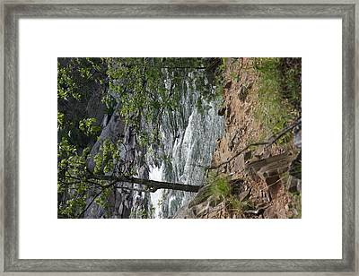 Great Falls Park - 121225 Framed Print by DC Photographer