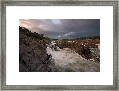 Framed Print featuring the photograph Great Falls Rugged Beauty by Bernard Chen