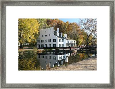 Great Falls Tavern Framed Print by Jerry Tompkins