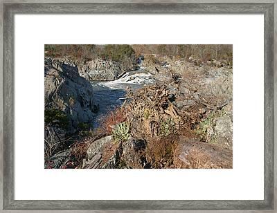 Great Falls Va - 121223 Framed Print by DC Photographer