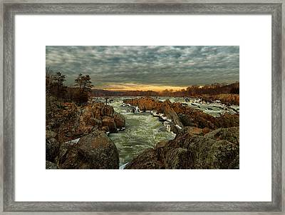 Great Falls Virginia Winter 2014 Framed Print