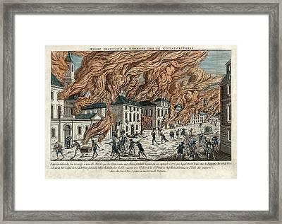 Great Fire Of New York, 1776 Framed Print