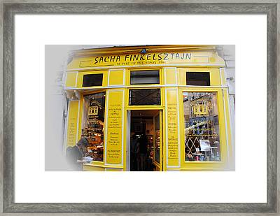 Framed Print featuring the photograph Great Food In Marais by Jacqueline M Lewis