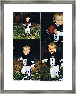 Great Football Players Aren't Made They Are Born Framed Print