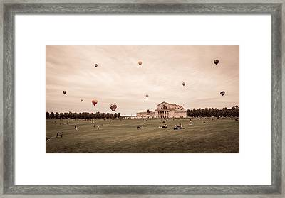 Great Forest Park Balloon Race Framed Print