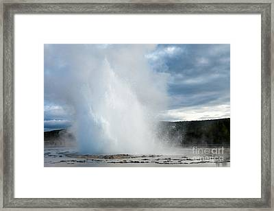 Great Fountain Geyser Along Firehole Lake Drive Framed Print by Fred Stearns