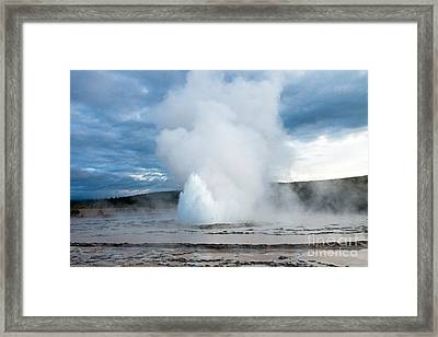 Great Fountain Geyser On Firehole Lake Drive Framed Print by Fred Stearns