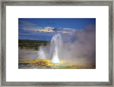 Great Fountain Geyser Framed Print by Terry Horstman