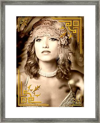 Great Gatsby Inspiration Framed Print by Donald Davis