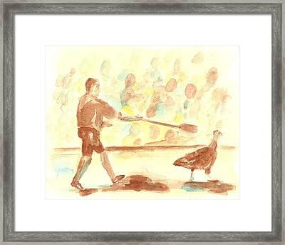 Great Gobbler Gallop #2 Framed Print by Matt Gaudian