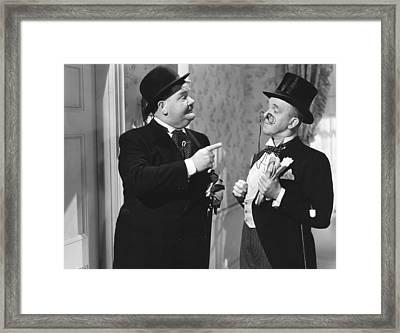 Great Guns, From Left Oliver Hardy Framed Print