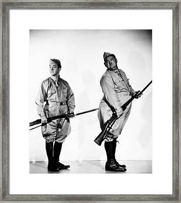 Great Guns, From Left Stan Laurel Framed Print