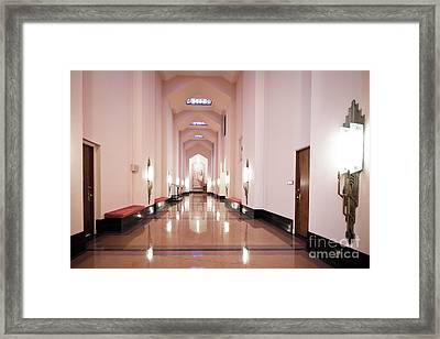 Framed Print featuring the photograph Great Hall by Lawrence Burry