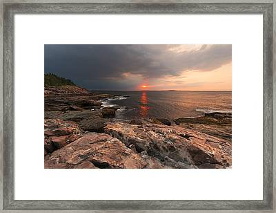 Great Head Trail Framed Print by Bernard Chen
