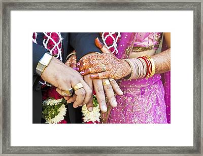 Great Hindu Wedding Now You Are Are Horizontall Framed Print by Kantilal Patel