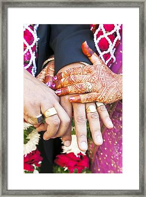 Great Hindu Wedding Now You Are Are Vertically  Framed Print by Kantilal Patel