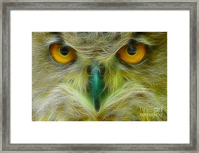 Great Horned Eyes Fractal Framed Print by Gary Gingrich Galleries