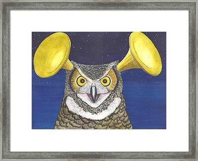 Great Horned Owl Framed Print by Catherine G McElroy