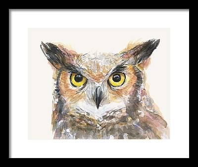 Great Horned Owl Framed Prints
