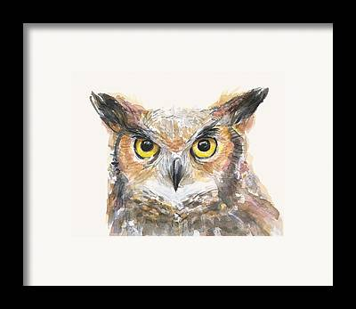 Owl Art Framed Prints
