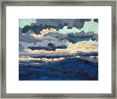 Great Horned Sunset Framed Print by Phil Chadwick