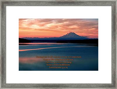 Great Is Thy Faithfulness Framed Print by Benjamin Yeager