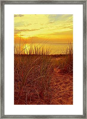Great Lake Great Sunset 2 Framed Print by Michelle Calkins