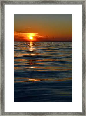 Great Lake Sunset Framed Print by Michelle Calkins