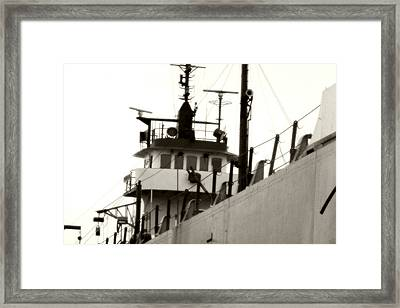 Great Lakes Freighter Framed Print by Michael Allen