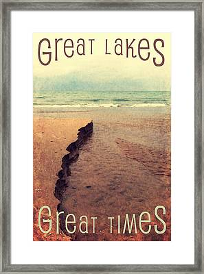 Great Lakes Great Times Framed Print by Michelle Calkins