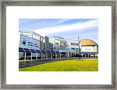 Great Lakes Science Center Framed Print by Frozen in Time Fine Art Photography
