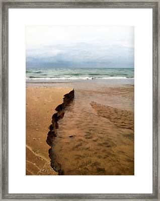 Great Lakes Shoreline Framed Print by Michelle Calkins