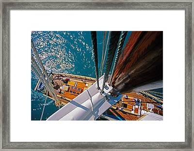 Great Lakes Tall Ship Framed Print by Dennis Cox WorldViews