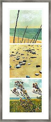 Great Lakes Triptych 2 Framed Print by Michelle Calkins
