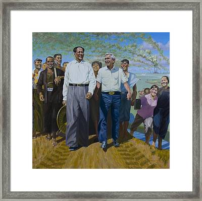 Great Leaders Accomplishing Mission Of Mutual Enrichment Framed Print by Johnny Everyman